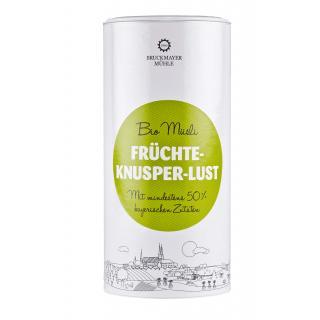 Früchte Knusper-Lust Dose Bayer. Bio Müsli