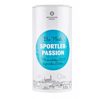 Sportler-Passion Dose Bayer. BioMüsli
