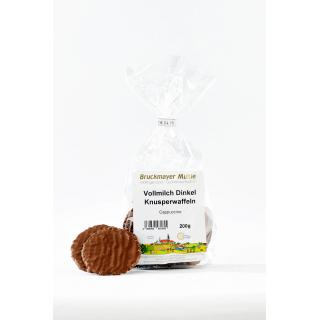 Vollmilch-Dinkelwaffeln -Cappuccino