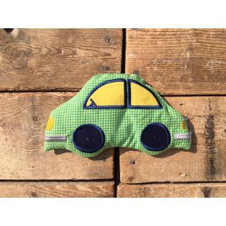 Rapssamenkissen Auto / Baumwolle Karo grün/gelb