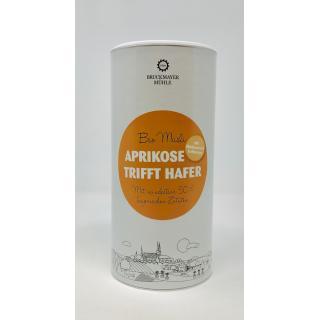 Aprikose trifft Hafer Dose Bayer. BIO Müsli